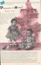 ▬►Page Poupée Françoise-Michel Modes et Travaux avec Minis Patrons DECEMBRE 1956