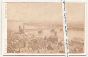 Albumin Foto Kabinettfoto Köln Brücke Rhein um 1880 ! (F2577