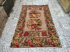 Bohemian Handknots Rug,Vintage Oushak Rug/Home Decor Rug,Turkish Rug Floral Rug