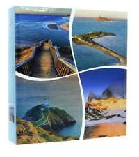 Large Blue Self Adhesive Photo Album 50Sheets / 100Sides Holiday Trave Memories