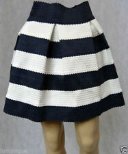 Pleated Hand-wash Only Striped Regular Size Skirts for Women