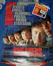 ORIGINAL UK VHS VIDEO SHOP POSTER 23 x 17 SNEAKERS 1994 ROBERT REDFORD
