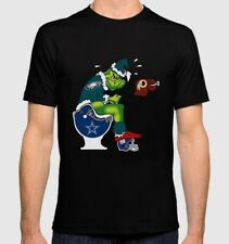 Philadelphia Eagles Custom T-SHIRT With The Grinch Sitting Over The Division