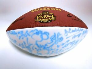 Donovan McNab Terrell Owens NFL 2003 Pro Bowl NFC Signed Autograph Football Ball