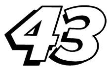 """12"""" x 18"""" Richard Petty - Bubba Wallace Number 43 Window Decals Stickers RPM"""