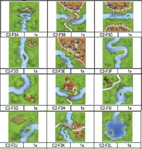 Carcassonne RIVER 1 Mini Expansion The River I ORIGINAL New Edit SPARE TILES