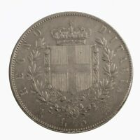 1872 Royaume Italie Bouclier Livres 5 Vitt. Emanuele II Milano Argent MF61138