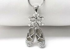F1 Clear Crystal Ballerina Dance Ballet Shoes NECKLACE Pendant NEW
