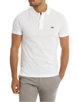 NEW Lacoste Basic Slim Fit Polo White