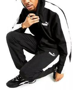 Puma Woven Tracksuit Men's Casual Wear Black  Size. XS, S, M, L, XL, 2XL
