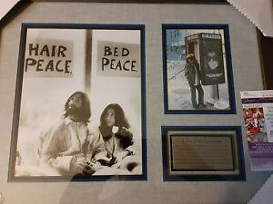 Yoko Ono autographed Professionally Framed display 20x16 JSA Certified
