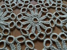 ANTIQUE Lovely Vintage SET of 12 parts Handmade Crochet Lace Tablecloths Runners