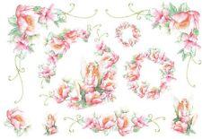 Papier de riz DFS044 Elfe Fleurs Flowers Decoupage Rice Paper serviette