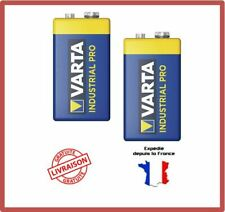 Piles 9V 6F22 6LR61 MN1604 4022 E-Block 9 Volts Alcaline Industrial VARTA X 2