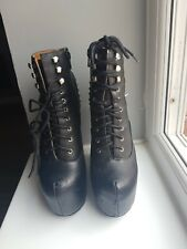 Genuine Jeffrey Campbell Damsel spike boots UK 3.5 EU 36 black New Rock Gothic
