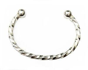 ANTOMUS® HANDMADE TWISTED SQUARE WIRE SOLID 925 SILVER NEW BABY BANGLE GIFT