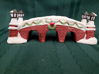 """Dickens Collectables Hand-Painted Porcelain """"Brick Bridge"""""""