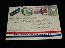 Vintage Cover, BUENOS AIRES, ARGENTINA, 1939 Airmail To London, UK, Air France