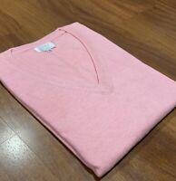 Women's Cashmere Sweater - 100% Pashmina V-Neck Jumper Cardigan Pink Pullover