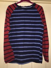 Sailmakers Sweater Top, Navy Mix, Size 14 - Super!