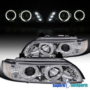 For 1996-2003 BMW E39 528i 540i Dual LED Halo Projector Headlight Replacement