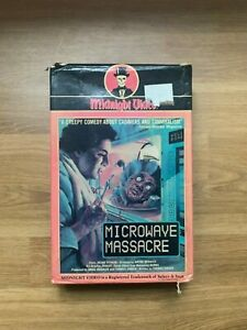 Microwave Massacre VHS Big Box 1983 Midnight Video Horror Uncut Box