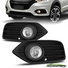 Fit 2019+ Honda HR-V HRV Clear Fog Light Bumper Lamp w/Bezel Switch Wire Relay