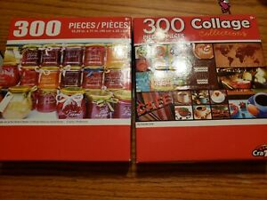 """Jigsaw Puzzle cra-z-art  300 Pcs 18"""" x 11"""" lot of 2 condition is used"""