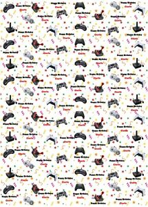 GAMES CONTROLLER Birthday Wrapping Paper