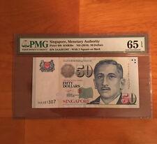 Singapore 50 Dollars ND 2010 P-49b> PMG 65 GEM UNC