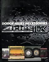 1981 DODGE ARIES K ACCESSORIES SALES BROCHURE