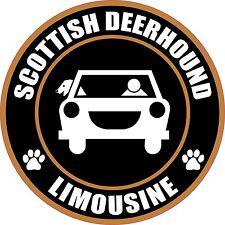 """Limousine Scottish Deerhound 5"""" Dog Transport Sticker"""