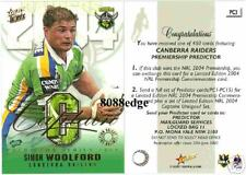 2004 SELECT NRL CAPTAIN REDEMPTION #CP3: SIMON WOOLFORD/450 - CANBERRA RAIDERS