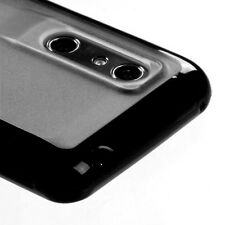 For AT&T LG Thrill 4G TPU Gel GUMMY Hard Skin Case Phone Cover Black Clear