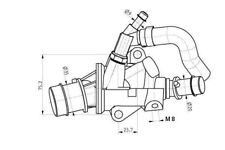 Fiat Seicento 1,1 original termosensor sensor de temperatura nuevo donantes 55188058