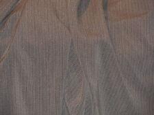 tissu rayé  gris ivoire infroissable stretch en 150 cm de large au mètre