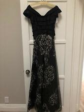 285d7e0504c Rene Ruiz Neiman Marcus Off The Shoulder Black Gown Size 2 NWT