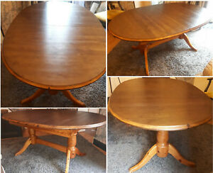 Solid Wood Extendable Family Dining Table Kitchen Conservatory Furniture, Used