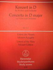 Wolfgang Amadeus Mozart - Konzert in D KV 211 - für Violine und Orchester
