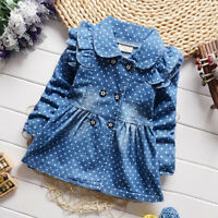 Toddler Baby Girl Tops Clothes Clothing Jacket Kids Girl Jackets Denim Outerwear