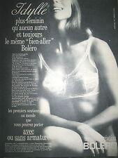 PUBLICITE DE PRESSE BOLERO SOUTIEN-GORGE STOCKING FRENCH AD 1965