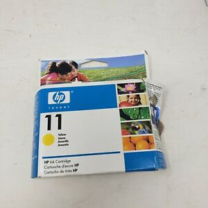 HP 11 C4838A Yellow Ink Cartridge New Open Box Genuine Original Expired