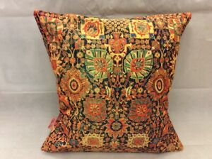 """Persian Rug Inspired Vintage Gold Rust Cushion Cover 43x43cm -16""""x16""""-50%OFF"""