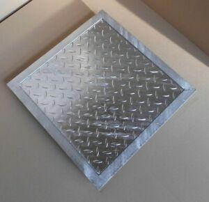 Schachtabdeckung PKW befahrbar verzinkt Schachtdeckel Gullideckel Kanal Stahl