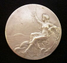 medaille bronze argente syndicat patrons coiffeurs medal Nice 1928 F Rasumny TTB