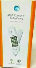 AT&T Trimline White Corded Telephone 210 Push Button Desk Wall Mount emergency #