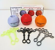 HANDMASTER PLUS 3 Pack Set w/ SOFT, MEDIUM & FIRM Hand Forearm & Wrist Exerciser