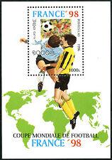 "LAOS Bloc N°134** Bf Football ""France 98"",  1996, Soccer world cup SC#1273 MNH"