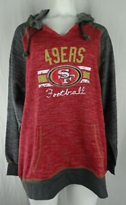 San Francisco 49ers NFL Majestic Women's Distressed Drawstring Hoodie