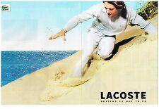 Publicité Advertising 2001 (2 pages) Les Vetements pour homme Lacoste